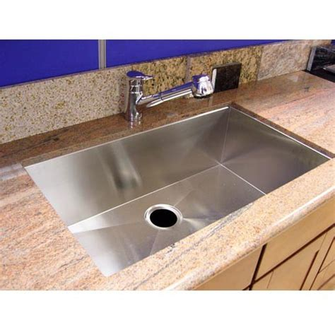 zero radius kitchen sink 36 inch stainless steel undermount single bowl kitchen 1709