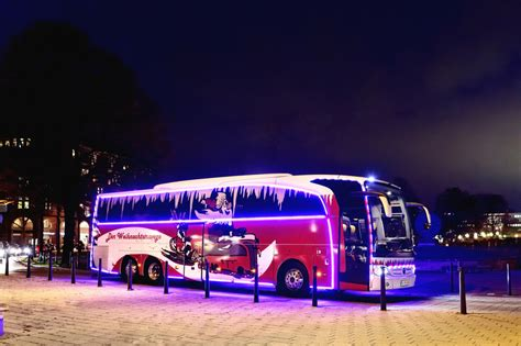 mercedes christmas travego unveiled with led lights