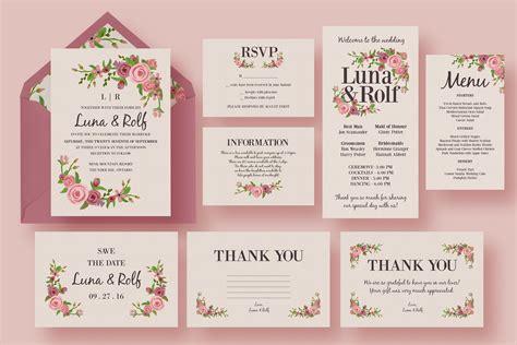 Floral Wedding Invitation Suite ~ Wedding Templates