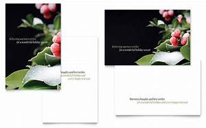 Free Sports Certificates Holly Leaves Greeting Card Template Word Publisher