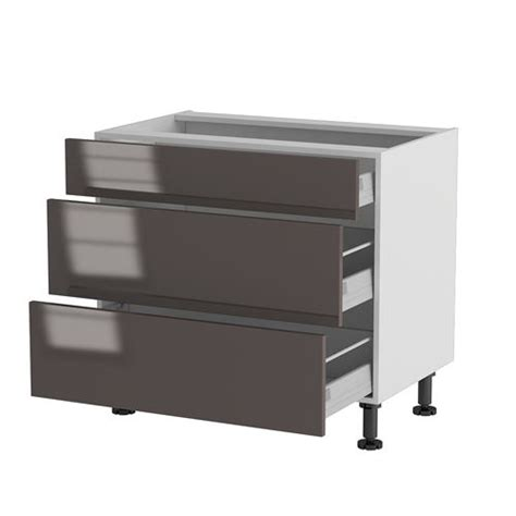 meuble cuisine cing meuble cuisine bas 90cm 1 tiroir 2 casseroliers achat