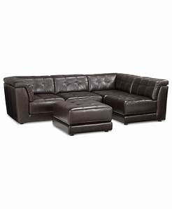 Stacey leather sectional sofa 5 piece modular pit 2 for Stacey leather 5 piece modular sectional sofa