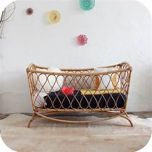 Lit Bebe Rotin : mobilier vintage lit b b rotin atelier du petit parc ~ Teatrodelosmanantiales.com Idées de Décoration