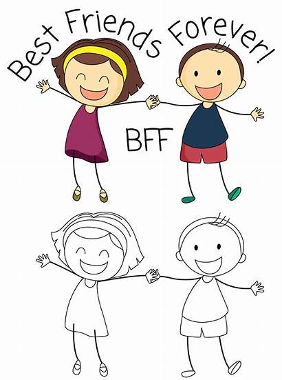 Bff Boy Friends Drawings Vector Drawing Clip