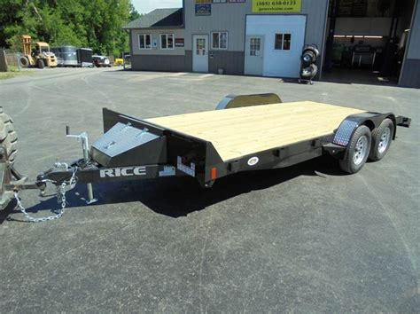 2018 Rice Trailers 18' Open Car Hauler, 7k