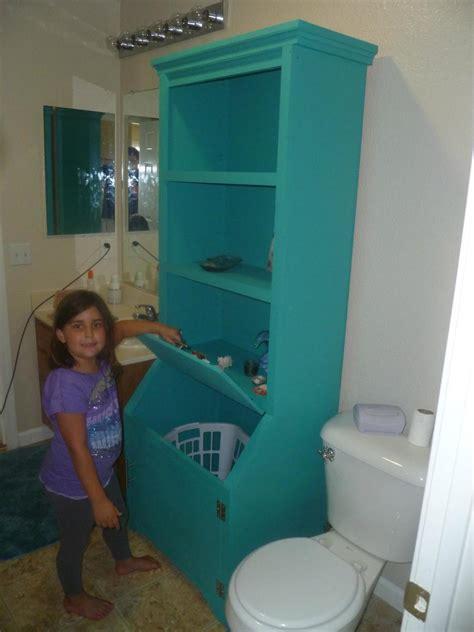 bathroom armoire  laundry hamper ana white