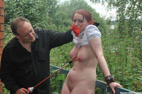 Ugly European Camgirl In Outdoor Disgrace