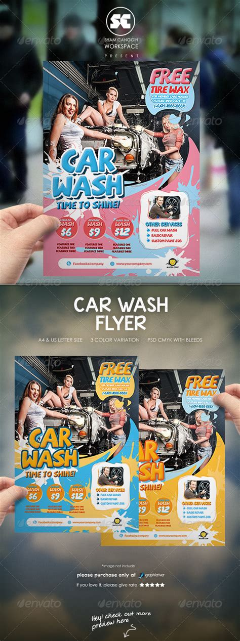 This car wash flyer template is created in order, to promote your car wash facility in the neighborhood. Car Wash Flyer by shamcanggih | GraphicRiver