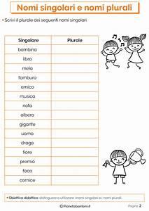 I Nomi Singolari e Plurali: Esercizi per la Scuola