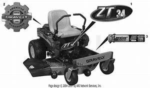 Gravely 915146  035000 -   Zt 34 Parts Diagram For Decals