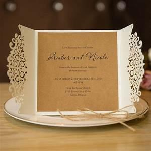 formal white laser cut wedding invitation cards with band With laser cut wedding invitations delhi