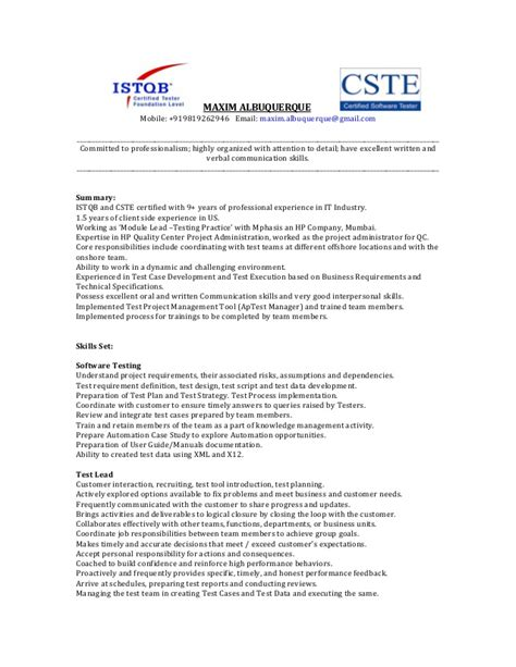 experienced resume sles for software engineers resume