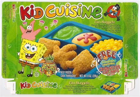 cuisine tv free 2002 kid cuisine sponge bob frozen tv dinner box gregg