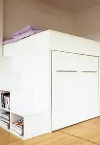 Lit Mezzanine Dressing : un lit dressing pour mon petit espace petit espace home bedroom mezzanine bed et loft design ~ Dode.kayakingforconservation.com Idées de Décoration