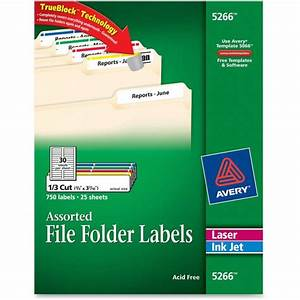 avery 5266 filing label 066quot width x 343quot 033quot length With avery file labels 5266 template