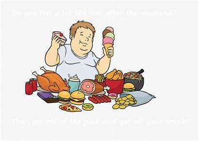 Cartoon Unhealthy Clipart Eat Too Much Eating