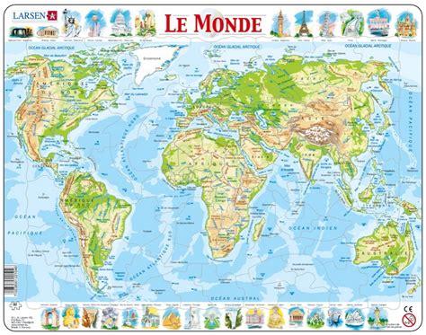 puzzle cadre carte du monde en fran 231 ais larsen k4 fr 80 pi 232 ces puzzles cartes du monde et
