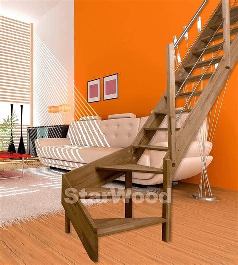 raumspartreppe 1 4 gewendelt starwood raumspartreppe 187 rhodos 171 offene stufen 1 4 rechts gewendelt holz edelstahlgel re