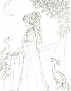 How to draw greek goddess, hera
