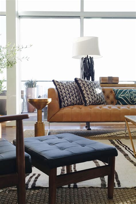 Leather Living Room Design by The Seattle Showhouse House Of Hipsters