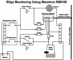 how do i monitor the bilge with maretron equipment With float switch wiring diagram in addition bilge pump float switch wiring