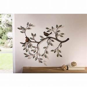 Decoration Murale Fer : d coration murale branche avec des oiseaux achat vente ~ Melissatoandfro.com Idées de Décoration