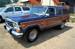 navy blue jeep grand cherokee 1986 86 jeep grand wagoneer navy blue woody factory