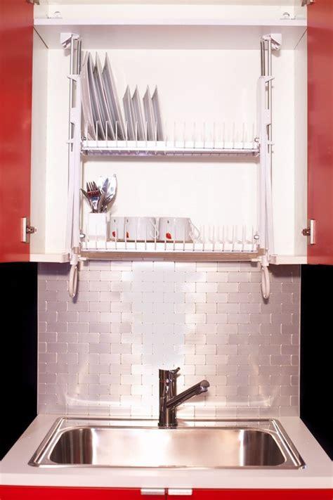 hide  dishrack   cabinet   drip dry drip