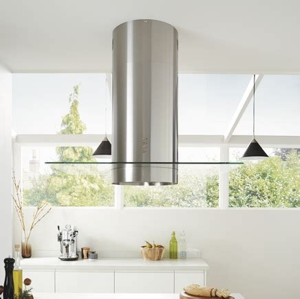 kitchen island extractor lamona stainless steel cylinder island extractor with 1909