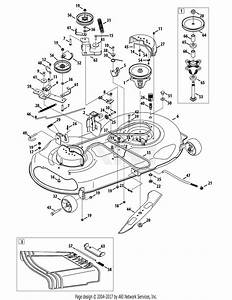 Mtd 13ax795t004  2012  Parts Diagram For Mower Deck 46