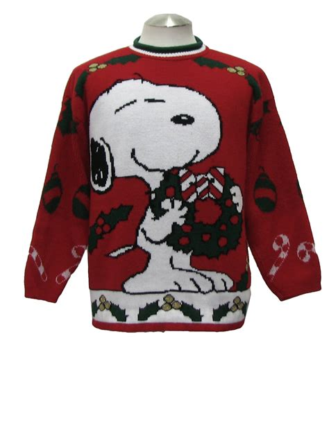 snoopy sweater 80s sweater snoopy and 80s