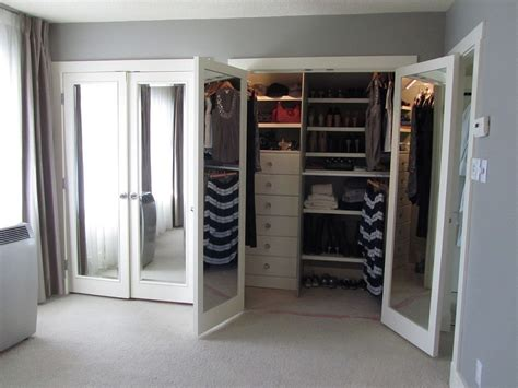 Doors Inspiring Mirrored French Closet Doors Mirrored