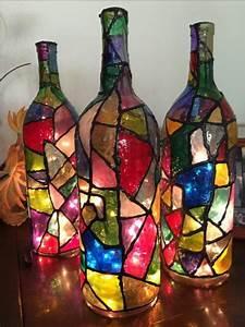Basteln Mit Glasflaschen : 42 upcycling ideen f r diy lampen aus glasflaschen glas ~ Watch28wear.com Haus und Dekorationen