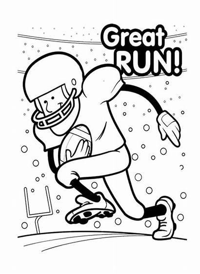 Bowl Coloring Football Printable Alabama Run Trophy