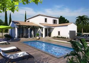 maison moderne bouches du rhone drome gard vaucluse With exceptional plan maison en u ouvert 1 plan de maison contemporaine amazone