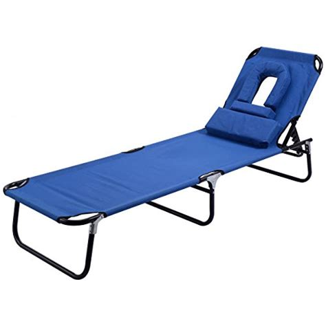 goplus folding chaise lounge chair bed outdoor patio