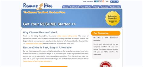 resume 2 hire reviews resume ideas
