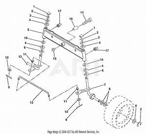 Poulan Pp11536 Tractor Parts Diagram For Front Axle