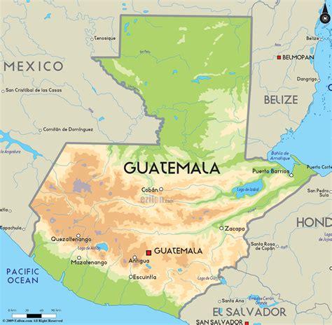 road map  guatemala  guatemala road maps