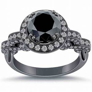 cheap black diamond engagement rings wedding and bridal With cheap black wedding rings