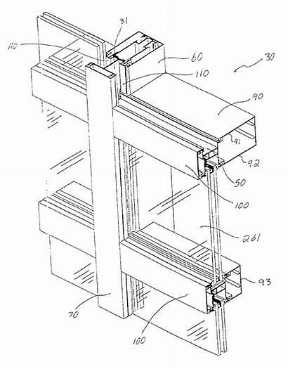 Curtain Glass Construction Mullion Air Architecture Gambar
