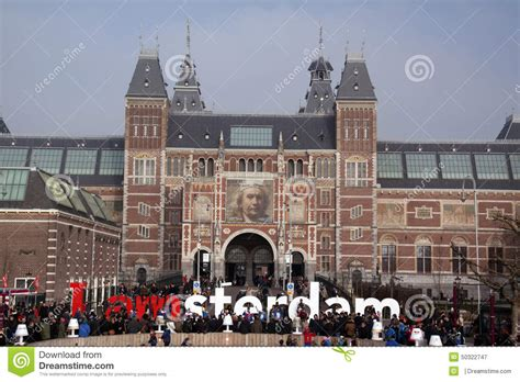 Amsterdam Museum National by National Museum Rijksmuseum Editorial Photography Image