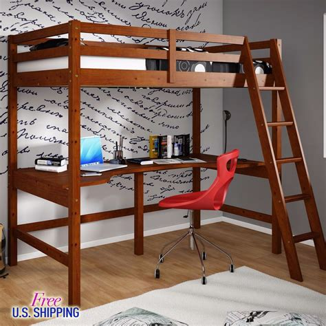 double bunk bed with desk wooden loft bed twin workstation desk bunk bunkbed wood
