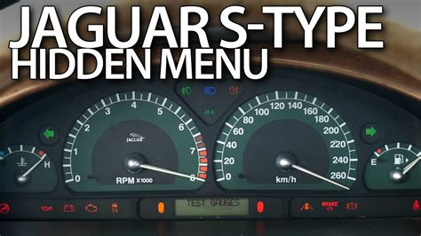 jaguar  type hidden menu instrument cluster test mode