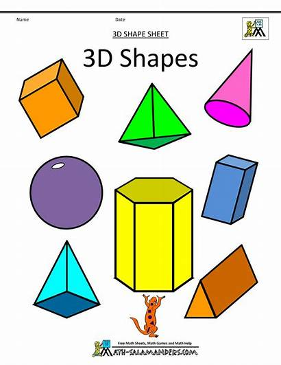Shapes 3d Geometric Printable Assorted Dimensional Clipart