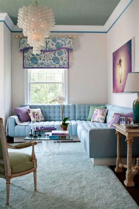 Showhouse Color Pastels by Pastel Blue Green Purple Living Room I M In