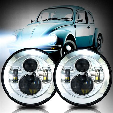 Led Headlights by Genssi 7 Quot Projector Led Headlight Multi Beam Low