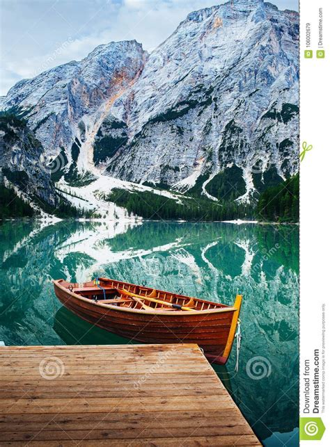 Lake Braies Dolomites Italy Stock Photos Download 3331