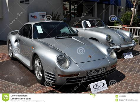 Luxury Porsche Classic Cars On Sale Editorial Stock Photo