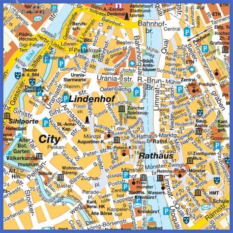 map  zurich switzerland toursmapscom